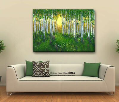 Green Forest Under Sunshine Canvas Prints Framed Wall Art Home Decor Painting