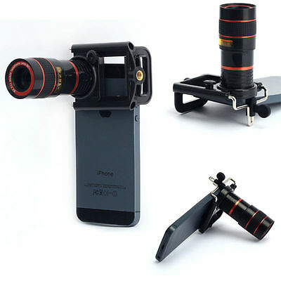 8X Zoom Camera Telephoto Telescope Lens Phone Clip For Various Cell Phone