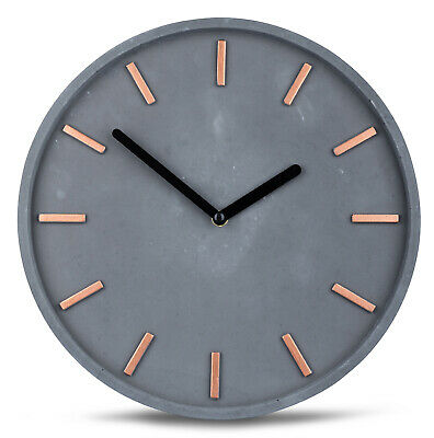 High Quality Beton-Uhr Wall Clock in Grey Copper Time Modern Wall Decoration