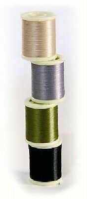 Marc Petitjean 200m Fly Tying Split Thread Black,Grey, Light Tan and Olive