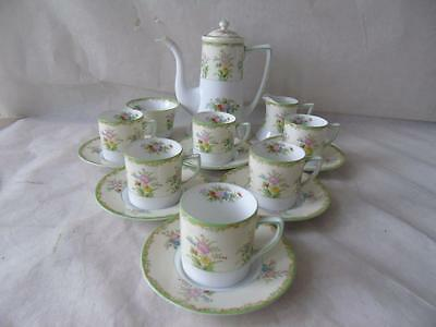 Rare Vintage Noritake Japan Galenta Pattern Coffee Set Services for Six