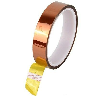 20mm 2cm X 30M 100ft Kapton Tape High Temperature Heat Resistant Polyimide UK
