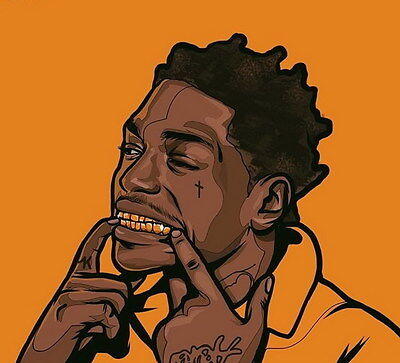 "MX19821 Kodak Black - American Hip Hop Trap Music Star 15""x14"" Poster"