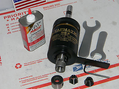 """Tapmatic 50X Tapping Attachment,5/8""""Shank, 2 collets,Wrenches"""