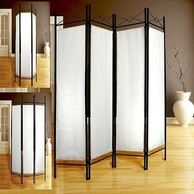 White Folding Room Divider Screen Furniture Separator Privacy Dressing Partition