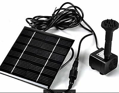 Solar Power Water Pump Kits Fish Tank Garden Fountain Pool Watering Features