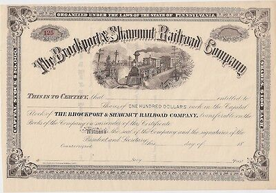 The Brockport & Shawmut Railroad Company......unissued Stock Certificate
