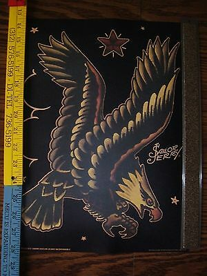 "Sailor Jerry Spiced Rum Canister and collectible print of eagle (10.75"" x 15"" )"