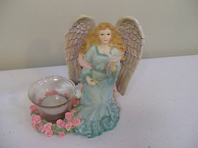 New! Avon Exclusive Detailed Heavenly  Angel Resin Candle Holder