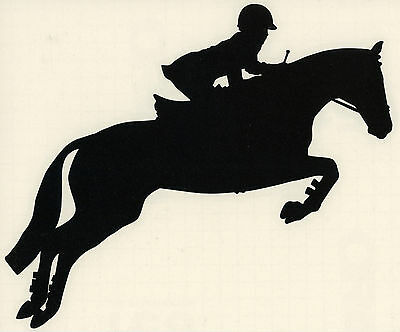 Thoroughbred Horse Decal English Hunter Jumper Equestrian Small Black Right