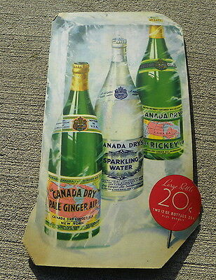 Canada Dry Beverages Ice Cube Stand Up Cardboard Sign