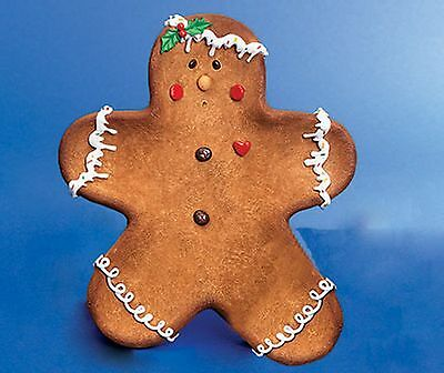 Christmas Gingerbread Man Dish Decoative Plate Table Decoration Sweet Bowl NEW