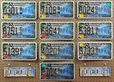 10 KENTUCKY Specialty Nature Waterfall License Plates Signs Tags Hobbies LOT 301