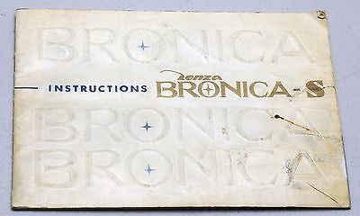 BRONICA-S Zenza Camera Guide Manual Instruction Photography Book