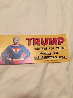 TRUMP BUMPER STICKER  2016 Fighting  FOR TRUTH JUSTICE And The American Way USA