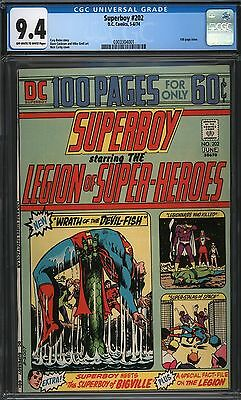 Superboy #202 Cgc 9.4 Ow/w Pages 1974 Dc 100 Page Giant