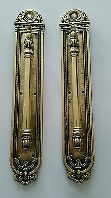Super Pair Vintage Brass Door Handles Pulls 20 Inches Tall!! Griffins Dolphins