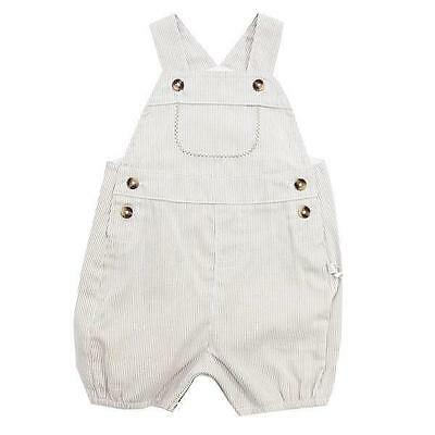 Baby Striped Shortall by Plum Precious Boy Clothes Overall Romper New Size 000