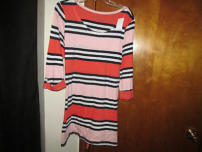 NEW * MOTHERHOOD MATERNITY STRIPE 3/4 SLEEVE KNIT SHIRT TOP sz XL TUNIC