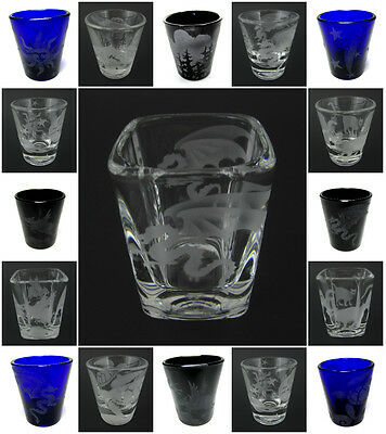 IncisoArt Hand Etched Shot Glass Permanently Sandblasted (Sand Carved) Handmade