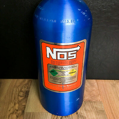 Empty Nitrous Oxide Systems NOS 14745 10 LBS Bottle with high-flow valve