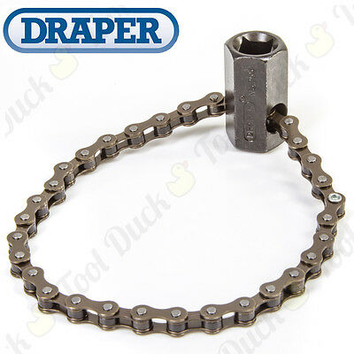 "Draper Oil Filter Removal Tool HEAVY DUTY CHAIN WRENCH ½"" Drive / 24mm Spanner"