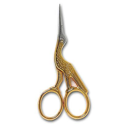 Deluxe Italian Range Of Stork Embroidery Scissors Sewing Accessories 9cm/3.5in