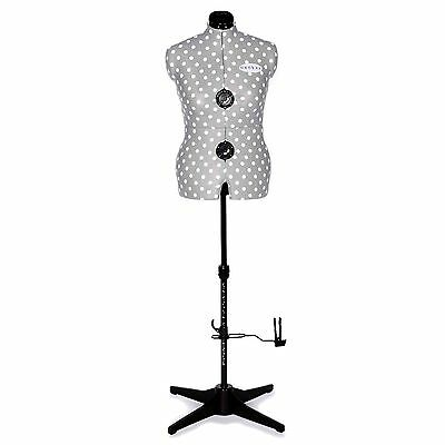Medium Grey Spot Dress Form Haberdashery Sewing Accessories Dressmaking Dummies