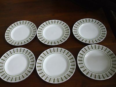 "Set of 6 Susie Cooper Persia Pattern Side /Bread /Tea 6"" Plates Made in England"