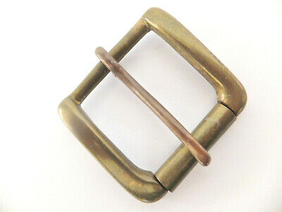 """ANTIQUE [ 3/4"""" to 2"""" ] Solid Cast Brass West End Roller Buckles  7 Sizes"""