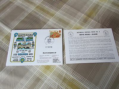 BRISTOL Rovers v READING 1986 1st Game in Division 3 FOOTBALL First Day Cover 2