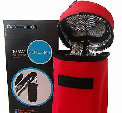 HM Travel Baby Feeding Bottle Holder Thermal Insulate Pouch Bag Holder RED
