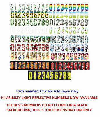17cm WHEELIE BIN HOUSE NUMBERS ADHESIVE STICKERS STICKER NUMBER STICKY GATE