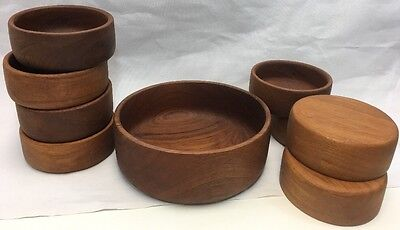 Goodwood Genuine Teak 9 Piece Salad Bowl Set