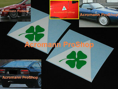 "2x 4"" 10.2cm Alfa Romeo Clover Leaf Quadrifolio Decal Sticker GTV Giulia GTA 156"