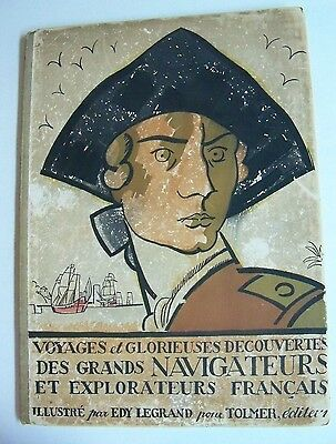 Great Navigators Of France, French Navy, Sailors Jacques Cartier etc. MAPS 1921