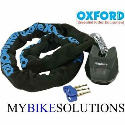 OXFORD HARDCORE MOTORCYCLE MOTORBIKE SCOOTER BIKE CHAIN AND LOCK 1.2 m  OF13
