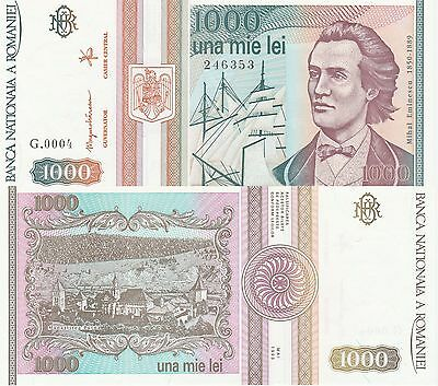 Romania 1000 Lei Banknote 5.1993 Uncirculated Condition Cat#102