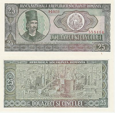Romania 25 Lei Banknote 1966 Uncirculated Condition Cat#95-A