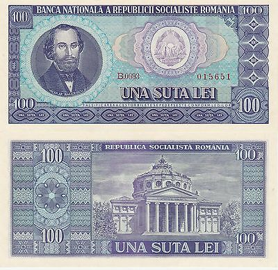 Romania 100 Lei Banknote,1966 Uncirculated Condition Cat#97-A