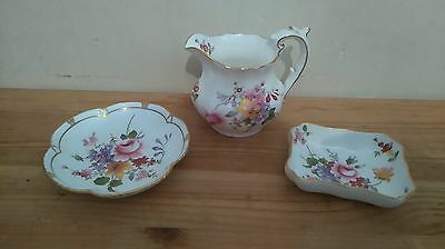 Collection of items in the Royal Crown Derby Posies Pattern