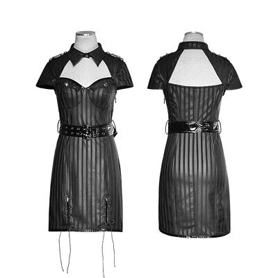 Gothic Pin-up Uniform PU-Minikleid Military Dress von Punk Rave