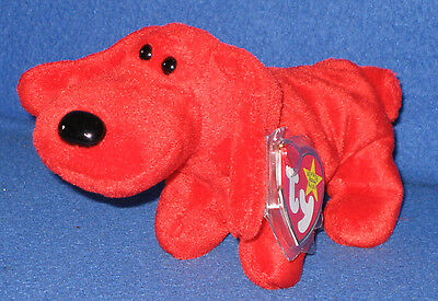 TY ROVER the RED DOG BEANIE BABY - MINT with MINT TAGS