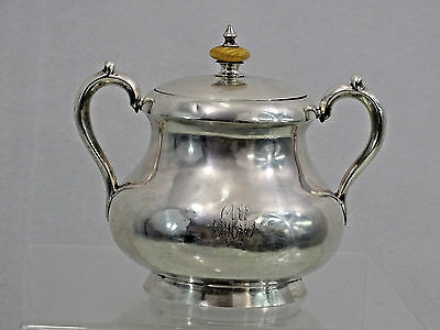 ANTIQUE IMPERIAL RUSSIAN 84 SILVER SUGAR BOWL MOSCOW 1880 wonderful