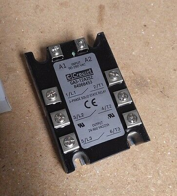 Crouzet 3-Phase Solid State Relay, GA3-12A25Z 25A