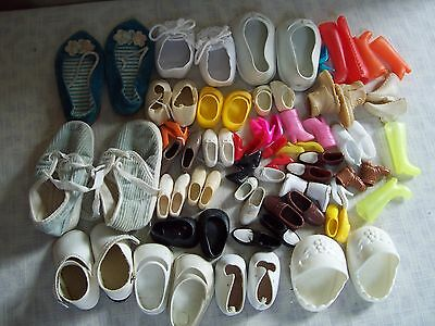 Vintage Barbie Ken Baby Doll Shoes Lot 39 Pairs