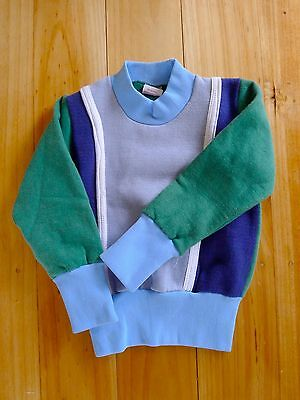 Vintage retro true 60's unused age 1 - 2 boys toddlers cotton warm jumper NOS