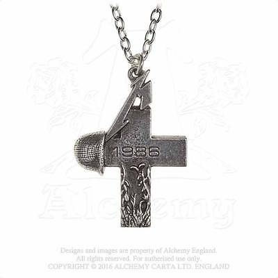 Alchemy OFFICIAL Metallica Master of Puppets 1986 Cross Pendant/Necklace PP507