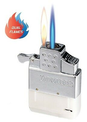 Vector Thunderbird Butane Dual Flame Lighter Insert for Flip Top Lighters