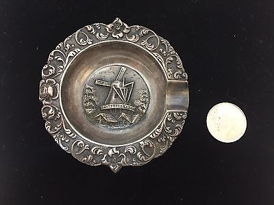 Vintage Dutch 900 silver ashtray